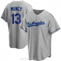 Youth Max Muncy Los Angeles Dodgers #13 Replica Gray Road A592 Jersey