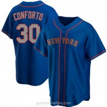 Youth Michael Conforto New York Mets #30 Authentic Royal Alternate Road A592 Jersey