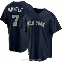 Youth Mickey Mantle New York Yankees #7 Authentic Navy Alternate A592 Jerseys