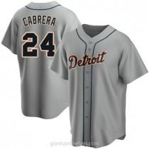 Youth Miguel Cabrera Detroit Tigers #24 Replica Gray Road A592 Jersey