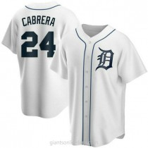 Youth Miguel Cabrera Detroit Tigers #24 Replica White Home A592 Jersey