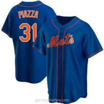 Youth Mike Piazza New York Mets Authentic Royal Alternate A592 Jersey