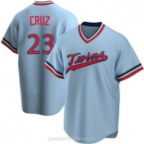 Youth Nelson Cruz Minnesota Twins #23 Authentic Light Blue Road Cooperstown Collection A592 Jersey