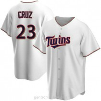 Youth Nelson Cruz Minnesota Twins #23 Authentic White Home A592 Jerseys