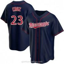 Youth Nelson Cruz Minnesota Twins Authentic Navy Alternate Team A592 Jersey