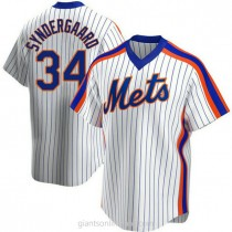Youth Noah Syndergaard New York Mets #34 Authentic White Home Cooperstown Collection A592 Jerseys