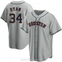 Youth Nolan Ryan Houston Astros #34 Authentic Gray Road A592 Jersey