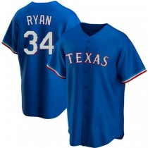 Youth Nolan Ryan Texas Rangers #34 Replica Royal Alternate A592 Jerseys