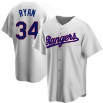 Youth Nolan Ryan Texas Rangers Replica White Home Cooperstown Collection A592 Jersey