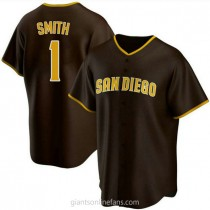 Youth Ozzie Smith San Diego Padres #1 Authentic Brown Road A592 Jersey
