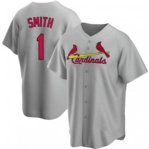 Youth Ozzie Smith St Louis Cardinals #1 Gray Road A592 Jersey Authentic
