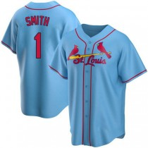 Youth Ozzie Smith St Louis Cardinals #1 Light Blue Alternate A592 Jerseys Authentic