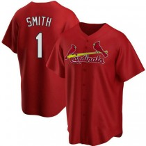 Youth Ozzie Smith St Louis Cardinals #1 Red Alternate A592 Jerseys Authentic