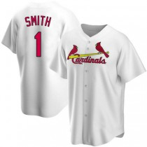 Youth Ozzie Smith St Louis Cardinals #1 White Home A592 Jersey Authentic