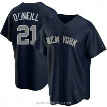 Youth Paul Oneill New York Yankees #21 Authentic Navy Alternate A592 Jersey