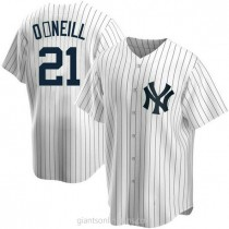 Youth Paul Oneill New York Yankees #21 Replica White Home A592 Jersey