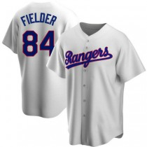 Youth Prince Fielder Texas Rangers #84 Replica White Home Cooperstown Collection A592 Jersey