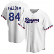 Youth Prince Fielder Texas Rangers Replica White Home A592 Jersey