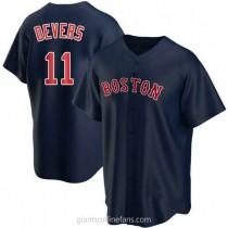 Youth Rafael Devers Boston Red Sox #11 Replica Navy Alternate A592 Jerseys