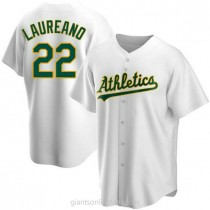 Youth Ramon Laureano Oakland Athletics #22 Authentic White Home A592 Jersey
