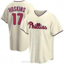 Youth Rhys Hoskins Philadelphia Phillies #17 Replica Cream Alternate A592 Jersey