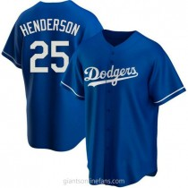 Youth Rickey Henderson Los Angeles Dodgers #25 Authentic Royal Alternate A592 Jersey