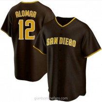 Youth Roberto Alomar San Diego Padres #12 Authentic Brown Road A592 Jerseys