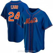 Youth Robinson Cano New York Mets #24 Authentic Royal Alternate A592 Jersey