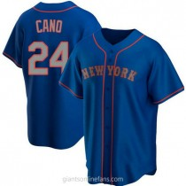 Youth Robinson Cano New York Mets #24 Authentic Royal Alternate Road A592 Jersey