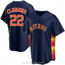 Youth Roger Clemens Houston Astros #22 Authentic Navy Alternate A592 Jerseys