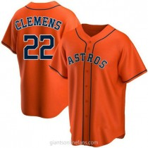 Youth Roger Clemens Houston Astros #22 Authentic Orange Alternate A592 Jerseys