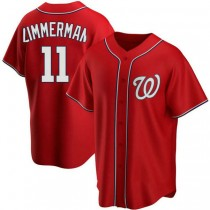 Youth Ryan Zimmerman Washington Nationals #11 Authentic Red Alternate A592 Jersey