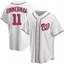Youth Ryan Zimmerman Washington Nationals #11 Authentic White Home A592 Jerseys