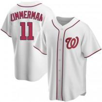 Youth Ryan Zimmerman Washington Nationals #11 Replica White Home A592 Jerseys