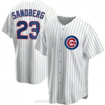 Youth Ryne Sandberg Chicago Cubs #23 Authentic White Home A592 Jersey