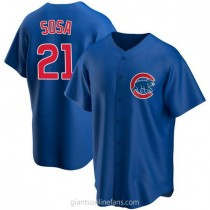 Youth Sammy Sosa Chicago Cubs #21 Authentic Royal Alternate A592 Jersey