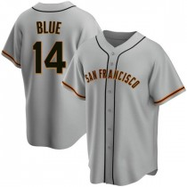 Youth San Francisco Giants #14 Vida Blue Authentic Blue Gray Road Jersey