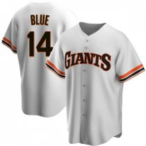 Youth San Francisco Giants #14 Vida Blue Authentic Blue White Home Cooperstown Collection Jersey