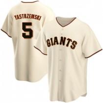 Youth San Francisco Giants #5 Mike Yastrzemski Replica Cream Home Jersey