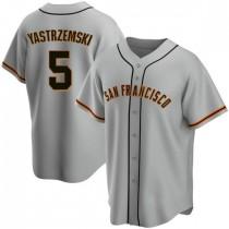 Youth San Francisco Giants #5 Mike Yastrzemski Replica Gray Road Jersey