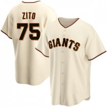 Youth San Francisco Giants #75 Barry Zito Authentic Cream Home Jersey