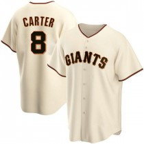 Youth San Francisco Giants #8 Gary Carter Authentic Cream Home Jersey