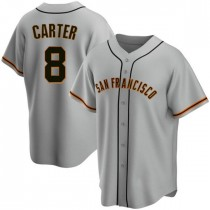 Youth San Francisco Giants #8 Gary Carter Authentic Gray Road Jersey