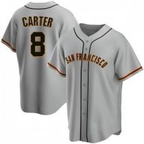 Youth San Francisco Giants #8 Gary Carter Replica Gray Road Jersey