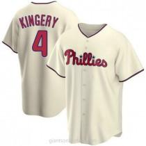Youth Scott Kingery Philadelphia Phillies #4 Authentic Cream Alternate A592 Jersey