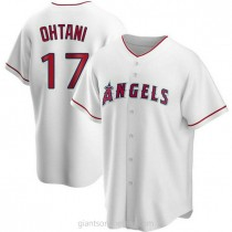 Youth Shohei Ohtani Los Angeles Angels Of Anaheim #17 Authentic White Home A592 Jersey