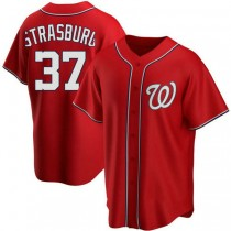 Youth Stephen Strasburg Washington Nationals #37 Authentic Red Alternate A592 Jersey