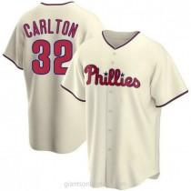 Youth Steve Carlton Philadelphia Phillies #32 Authentic Cream Alternate A592 Jersey