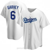 Youth Steve Garvey Los Angeles Dodgers #6 Replica White Home A592 Jersey