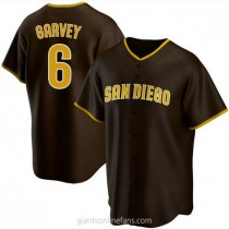 Youth Steve Garvey San Diego Padres #6 Authentic Brown Road A592 Jersey